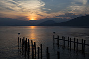 Lake Framed Prints - Lake Maggiore Framed Print by Joana Kruse