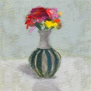 Flower Still Life Posters - RCNpaintings.com Poster by Chris N Rohrbach
