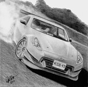 Drift Car Posters - 370z Fairlady Drift Poster by Chris Cox