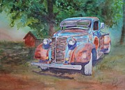 Rusty Truck Paintings - 38 Chevy by Ruth Kamenev
