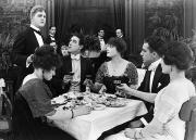 Waiter Prints - Silent Film Still: Drinking Print by Granger