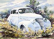 Automobile Paintings - 39 Chevy by Sam Sidders