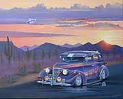 School  Painting Originals - 39 Chevy by Stuart Swartz