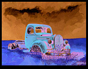 Rusty Truck Paintings - 39 Ford pickup by Bernard Shuman