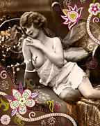 Vintage Erotica  Prints - Goddess Print by Chris Andruskiewicz