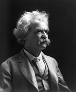 Mustache Photo Prints - Samuel Langhorne Clemens Print by Granger