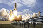 Rocket Boosters Prints - Space Shuttle Atlantis Lifts Print by Stocktrek Images