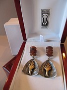 Signed Jewelry - 396 Fused Metal Earrings by Brenda Berdnik