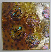 Amber Glass Art - 3B - 1 Right by Michelle Rial