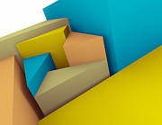 Copyspace Digital Art Posters - 3d Abstraction  Poster by Igor Kislev