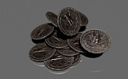 Coins Digital Art - 3d Coins by George Pedro Jr