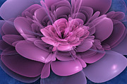 Artistic Digital Art Posters - 3D Flower Poster by John Edwards