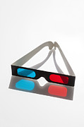 3-d Metal Prints - 3D glasses Metal Print by Juan  Silva