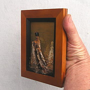 Framed Reliefs - 3D Mini Vulture side view by Roger Swezey