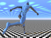 Runner Digital Art - 3D Runner by Nicholas Burningham