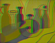 Conversion Digital Art - 3D Stereo Cubism - Use Red-Cyan 3D glasses by Brian Wallace