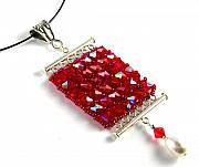 Red Jewelry - 3Fine Design Lady in Red Choker by Tracy Behrends