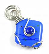 Abstract Jewelry Originals - 3Fine Design True Blue Pendant by Tracy Behrends