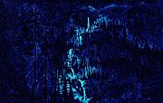 Night Glow Painting Originals -  Earth Light series lights off  by Len Sodenkamp