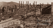 California Earthquake Prints - 1906 San Francisco Earthquake Print by Science Source