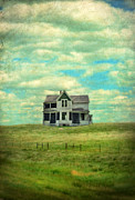 Haunted House Posters - Abandoned Farmhouse Poster by Jill Battaglia