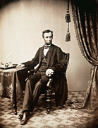 Full-length Portrait Framed Prints - Abraham Lincoln 1809-1865, U.s Framed Print by Everett