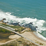 Cultivation Prints - Aerial View of a Coastal Road Print by Eddy Joaquim