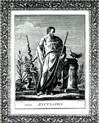 Sacred Artwork Framed Prints - Aesculapius, Greek God Of Medicine Framed Print by Science Source