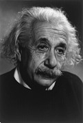 Jewish Ancestry Framed Prints - Albert Einstein 1879-1955 Framed Print by Everett