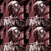 Abstractions - Andy Warhol Statue Union Square NYC  by Robert Ullmann