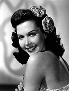 Bare Shoulder Framed Prints - Ann Miller, Portrait Framed Print by Everett