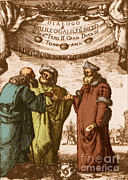 Dialogue Posters - Aristotle, Ptolemy And Copernicus Poster by Science Source