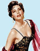 1950s Portraits Prints - Ava Gardner, Ca. 1950s Print by Everett