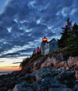 Acadia National; Park Prints - Bass Harbor Lighthouse Print by John Greim