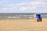 Schleswig-holstein Posters - Beach Chair Poster by Joana Kruse