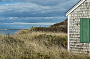 Weathered Houses Posters - Beach cottage Poster by John Greim