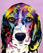 Coloful Mixed Media Metal Prints - Beagle Metal Print by Dean Russo