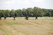 Belgian Paratroopers Proceeding Print by Luc De Jaeger