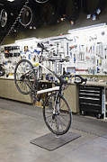 Hand-built Prints - Bicycles And The Servicesales Desk Print by Roberto Westbrook