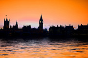 London Cityscape Posters - Big Ben and the houses of Parliament  Poster by David French