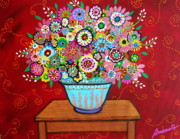 Artist Paintings - Blooms by Pristine Cartera Turkus