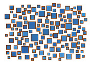 Color Drawings Prints - Blue Abstract Print by Frank Tschakert