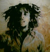 Jamaican Music Paintings - Bob Marley by Robert Cunningham