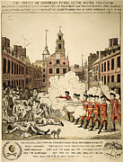 Colonist Prints - Boston Massacre, 1770 Print by Granger