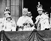 Queen Elizabeth Ii Metal Prints - British Royal Family. From Left British Metal Print by Everett