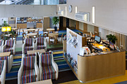 Desk Photo Prints - Business Lounge at an Airport Print by Jaak Nilson