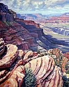Canyon Paintings - Canyon View by Donald Maier