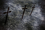 Crosses Photo Prints - Cemetery Print by Joana Kruse