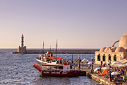 Boats In The Harbor Prints - Chania - Crete Print by Joana Kruse