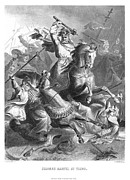 Georg Framed Prints - CHARLES MARTEL (c688-741) Framed Print by Granger